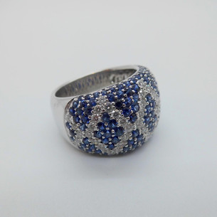 Domed Sapphire and Diamond ring £2450.00