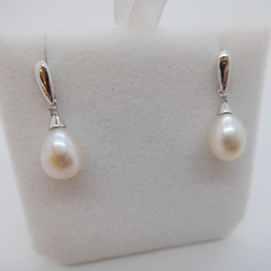 Pearl and Diamond Earrings £145.00