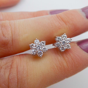 Floral Diamond Clusters £1100.00