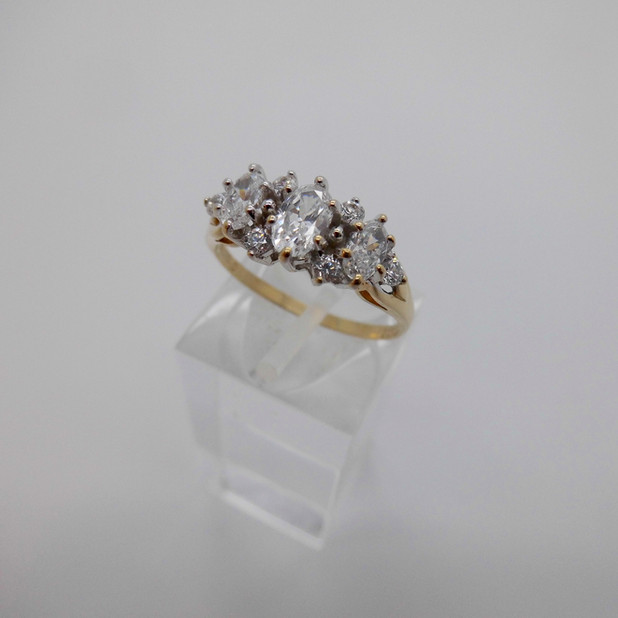 CZ multi stone ring £99.50 SOLD