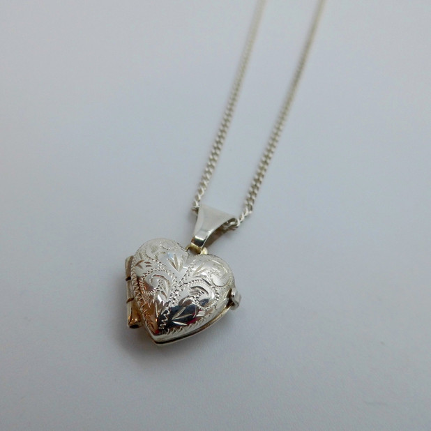 Silver Heart Shaped Locket £29.90