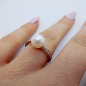White Gold and Pearl Ring £315.00