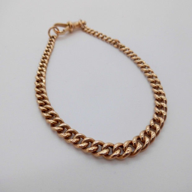 Rose Gold Curb bracelet £225.00