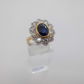 Sapphire and Diamond Cluster £4250.00