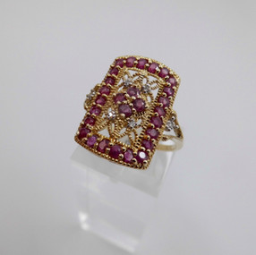 SOLD Ruby and Diamond Ring £155.00