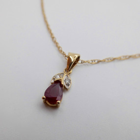 Ruby and Diamond Pendant £175.00 SOLD