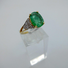 Emerald and Diamond Ring £1250.00