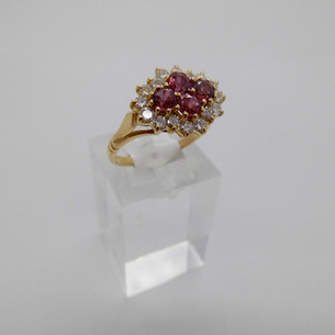 Ruby and Diamond ring £1100.00