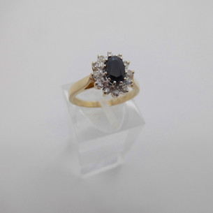 Sapphire and Diamond ring £175.00 SOLD