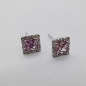 Pink Sapphire and Diamond Earrings £325.00 SOLD