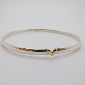 Silver Heart Bangle £45.00 SOLD