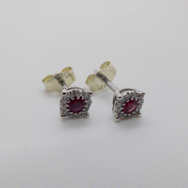 Ruby and Diamond Studs £99.50 SOLD