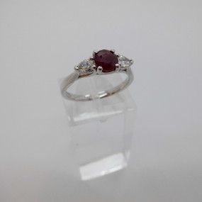 SOLD Ruby and Diamond Ring £690.00