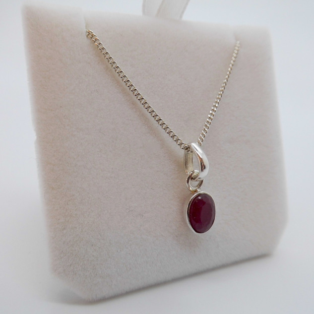 Silver and Ruby Pendant £20.00