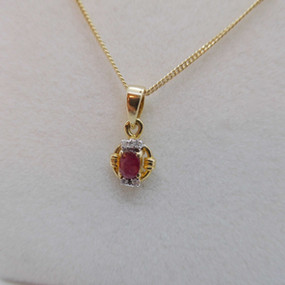 Ruby and Diamond Necklet £180.00 SOLD