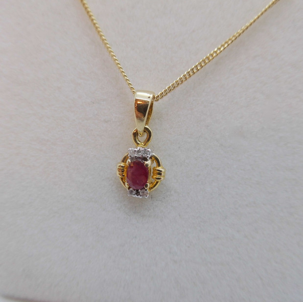 Ruby and Diamond Necklet £180.00