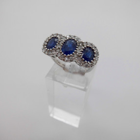 Sapphire and Diamond Cluster £1250.00 SOLD