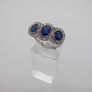 Sapphire and Diamond Cluster £1250.00
