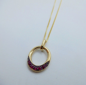 Oval Ruby Pendant £320.00