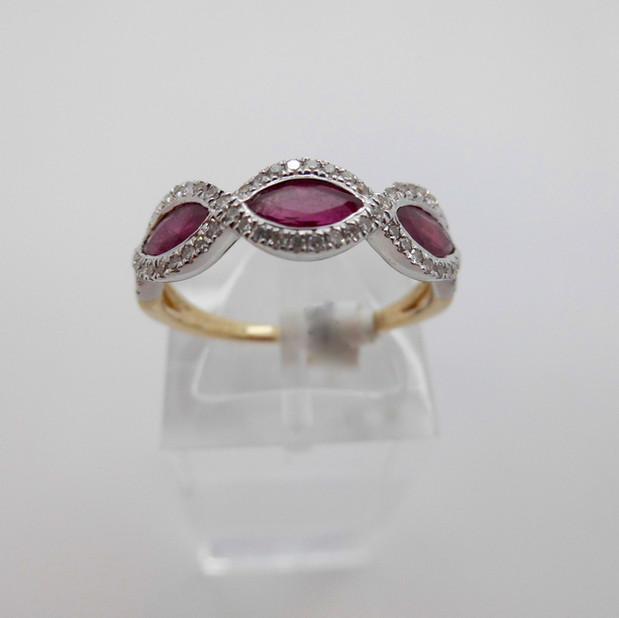 Ruby and Diamond Ring £755.00