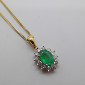 Emerald and Diamond Cluster £589.95   SOLD