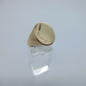 Yellow Gold Signet Ring £275.00 SOLD