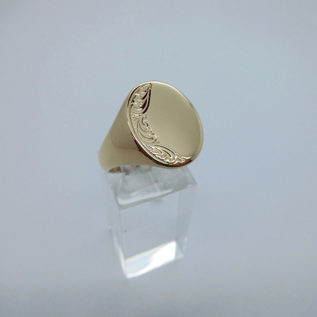 Yellow Gold Signet Ring £275.00