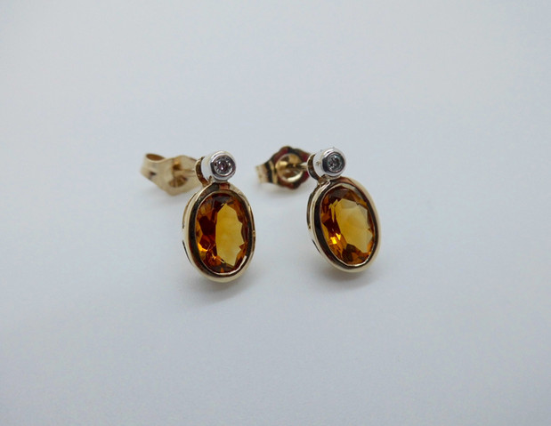 Citrine and Diamond Earrings £165.00 SOLD