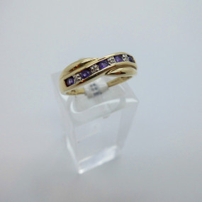 Amethyst and Diamond Ring £75.00 SOLD