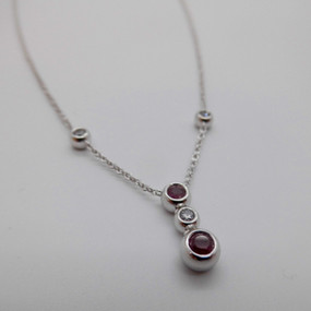 Ruby and CZ Necklet £125.00