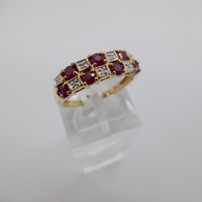 Ruby and Diamond Ring £175.00 SOLD