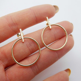 Yellow Gold Hoops £145.00