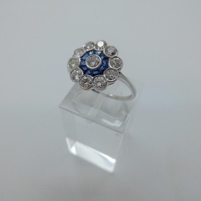 Sapphire and Diamond Cluster Ring £1875.00