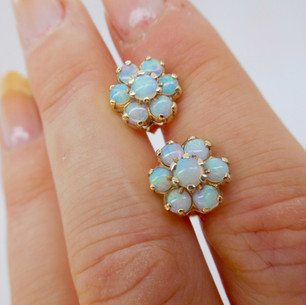 Opal Cluster Earrings £150.00 SOLD