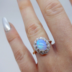 Opal and Diamond Ring £850.00