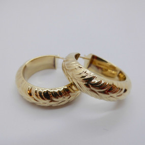 Yellow Gold Earrings £190.00 RESERVED