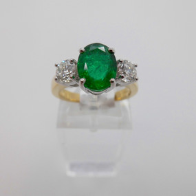 Emerald and Diamond Ring £3650.00