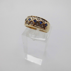 Sapphire and Diamond Ring £140.00 SOLD