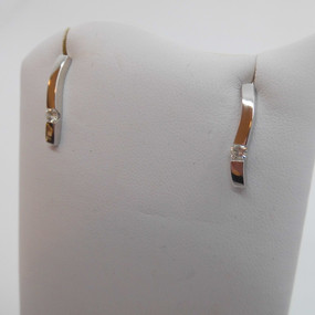 White gold and Diamond Earrings £350.00 SOLD