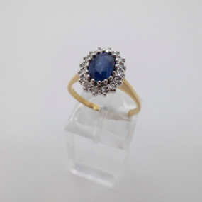 Sapphire and Diamond Cluster £875.00 SOLD