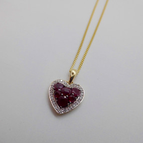 Ruby and Diamond Heart £490.00