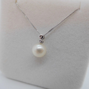 Pearl & Diamond Pendant £217.95