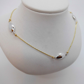 Yellow & White Gold Necklet £215.00