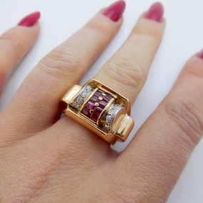 Ruby and Diamond Ring £1495.00