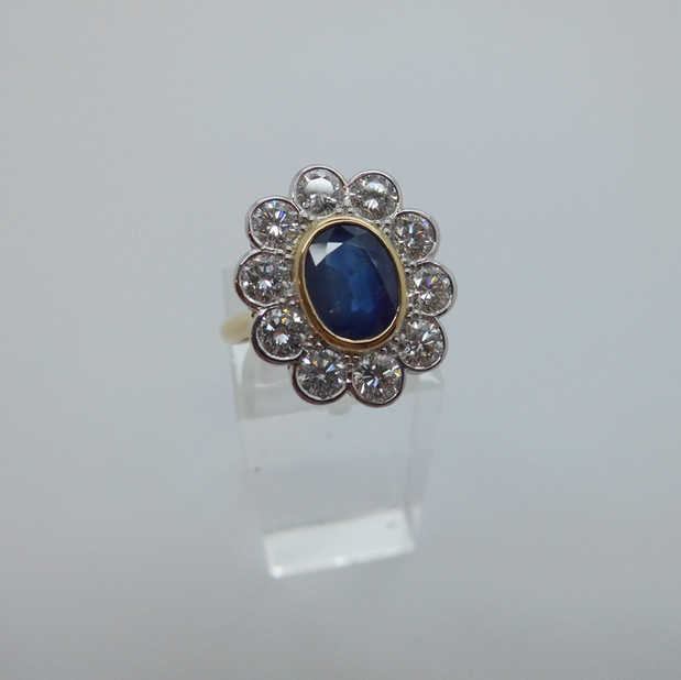 Sapphire and Diamond Cluster Ring £4350.00