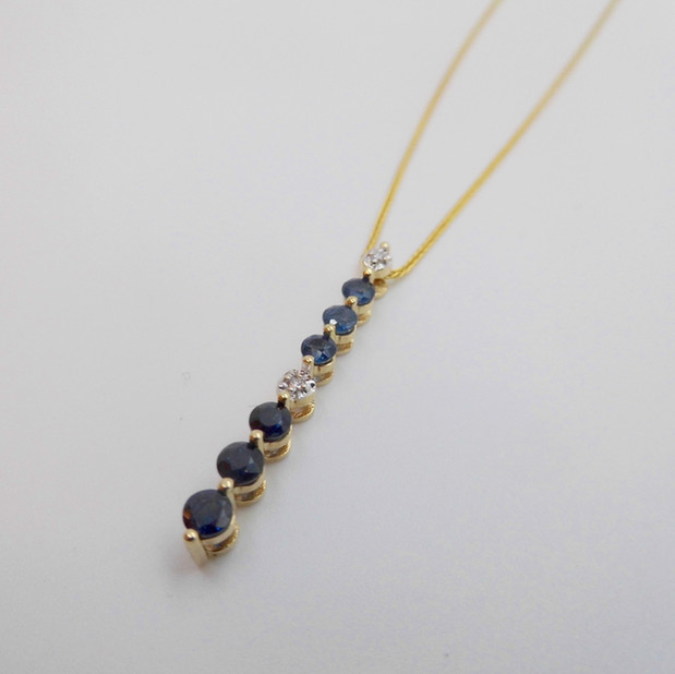 Sapphire and Diamond Pendant £200.00 SOLD
