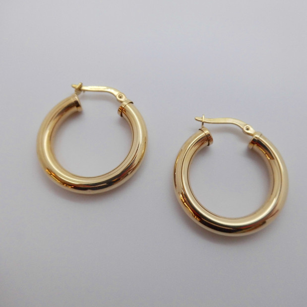 Gold Hoops £125.00 SOLD