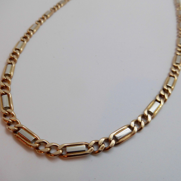 9ct White and Yellow Gold Necklet £1350.00
