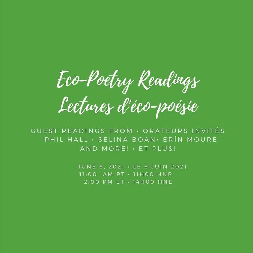 Eco-Poetry Readings with Phil Hall and Erín Moure