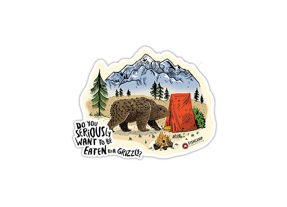 Grizzly Camp Sticker